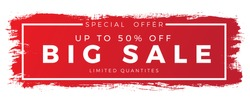 brush sale banner vector