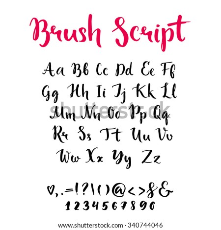Number Names Worksheets what is lowercase and uppercase letter : Brush Script With Lowercase And Uppercase Letters, Keystrokes And ...