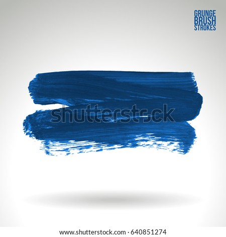 Brush stroke and texture. Grunge vector abstract hand - painted element. Underline and border design.