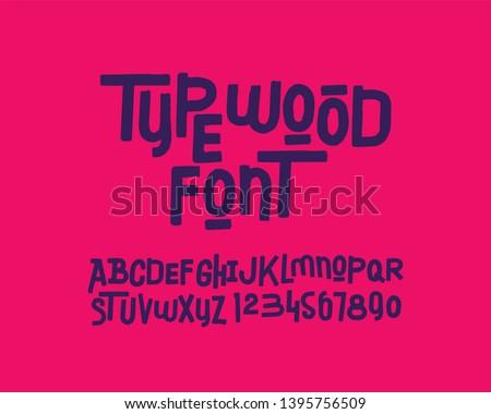 Brush stroke freehand font set design