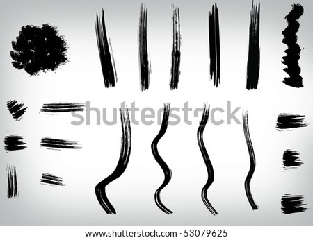 brush stroke set (can be used as brushes)