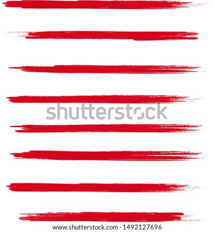brush stroke set isolated on