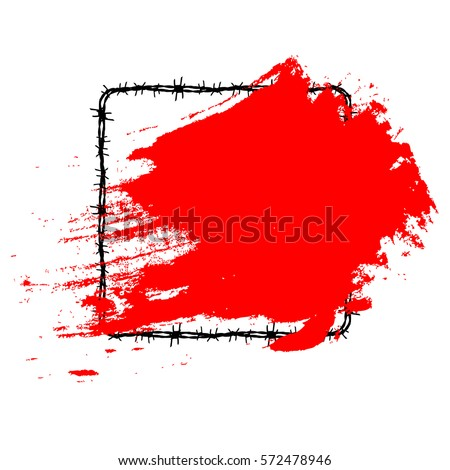brush stroke vector red. brush stroke black tattoo. icon #572478946