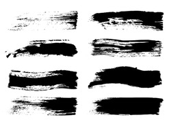 Brush Strokes. Black Graffiti Textures. Grey Brush Elements. Water Color Effect Stripe. White Grunge Wave. Monochrome Photoshop Watercolor Brushes.