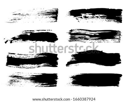 brush strokes black graffiti