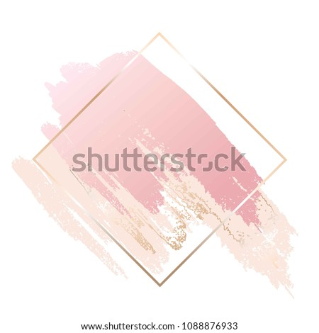 brush strokes in rose and nude