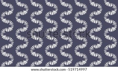 brush strokes zigzag of brush