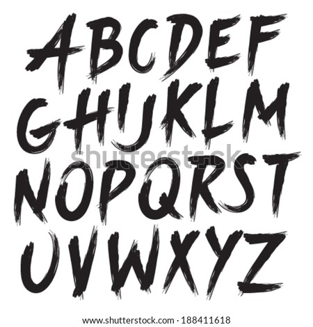 Brush Style Hand Draw Font Abc