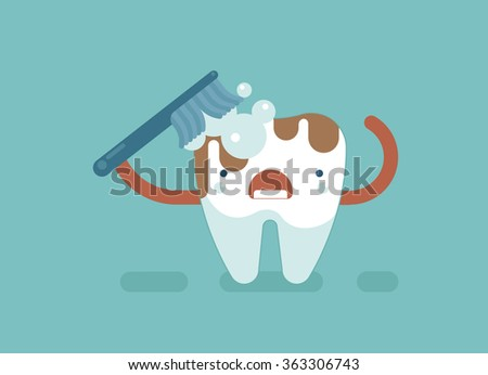 brush tooth for clean  dental