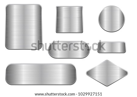 brushed metal plates set of