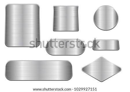 brushed metal plates set of