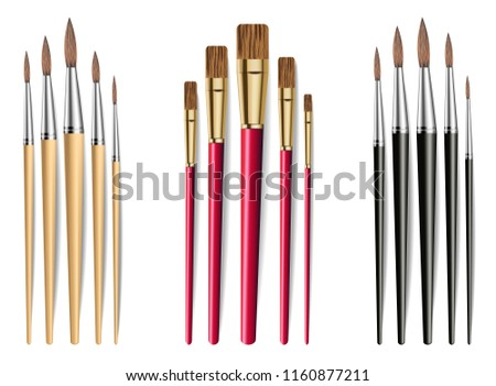 brushes set vector realistic