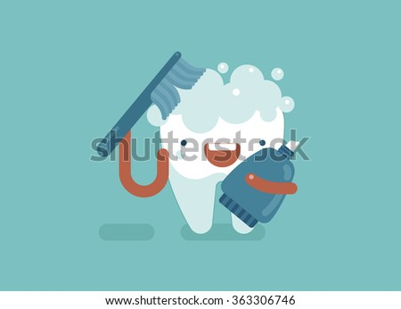 brushing tooth  dental concept