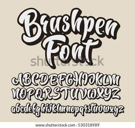 brushpen comic lettering font