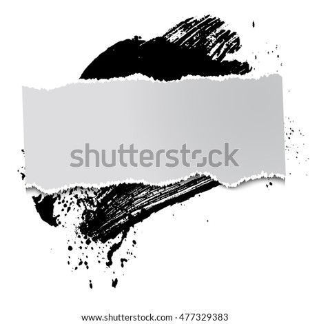 brushstroke and paper on a black background, illustration, clip-art #477329383