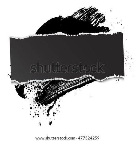 brushstroke and paper on a white background, illustration, clip-art #477324259