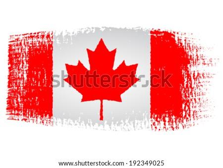 brushstroke flag canada