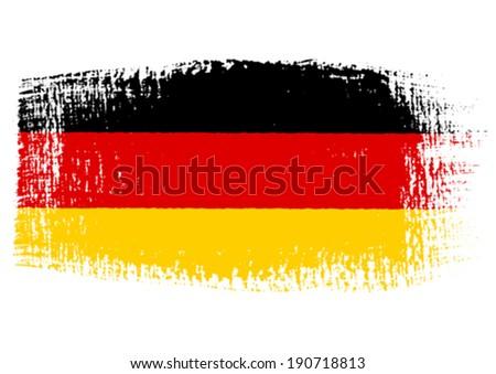 brushstroke flag germany with