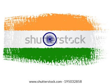 brushstroke flag india