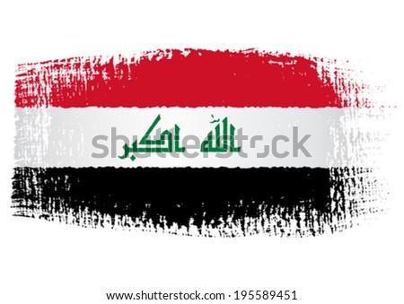 brushstroke flag iraq