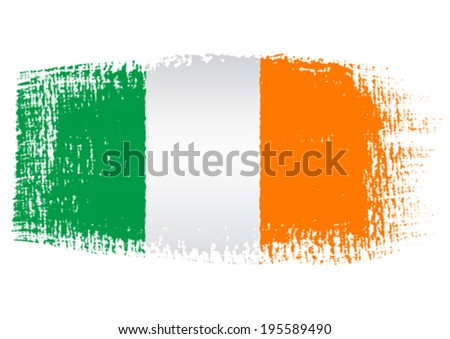 brushstroke flag ireland