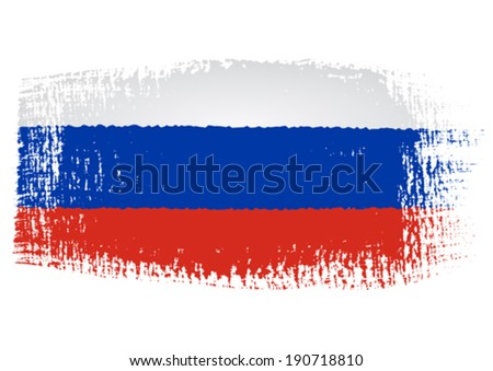 brushstroke flag russia with