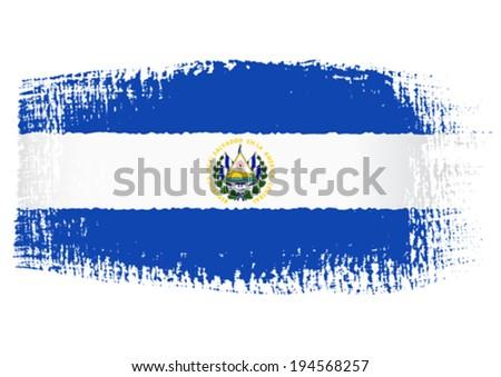 brushstroke flag Salvador