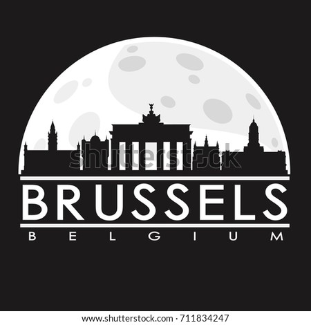 brussels full moon night