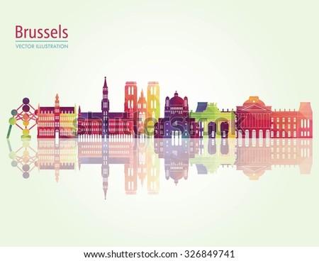 brussels skyline detailed