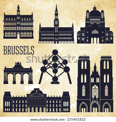 brussels vector illustration