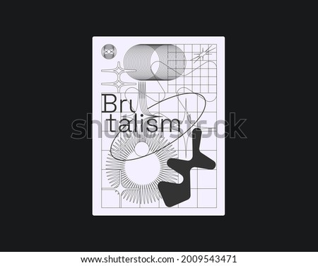 brutalism inspired graphic
