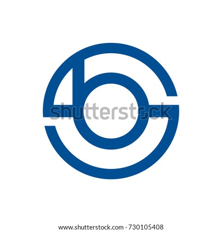BS or CB or BC or BCS or SCB  initial letter logo design template vector