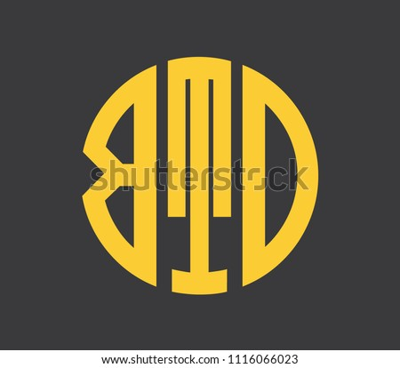 BTD letter alphabet abstract logo vector