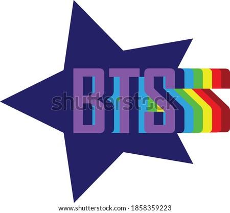 BTS icon vector. BTS lebel on white background. BTS Sign. BTS lebel web site pictogram, mobile app. Logo illustration Stock fotó ©