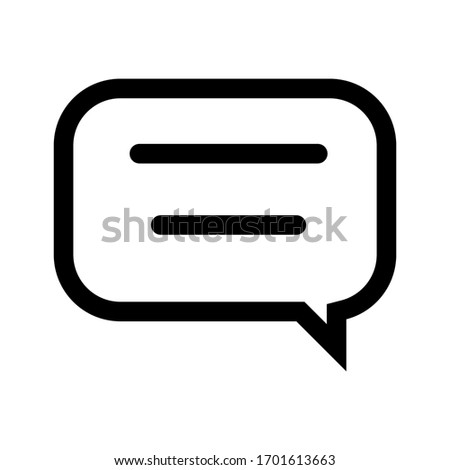 Bubble Chat icon vector for any purposes