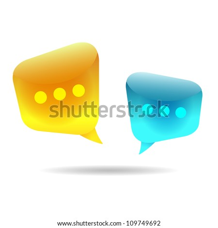 Bubble Chat (Vector illustration of chat room discussion)