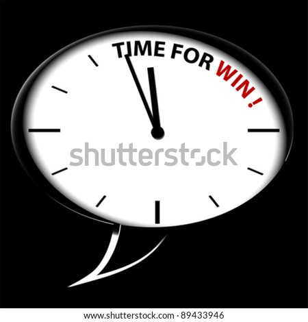 """Bubble Clock """"Time for WIN!"""""""