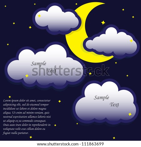 bubble cloud and moon