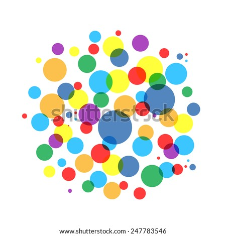 bubble colorful frame for your