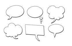 Bubble comic speech set, great design for any purposes. Sticker design. vector illustration