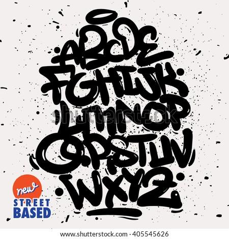 Shutterstock Bubble Handletterin Graffiti Font