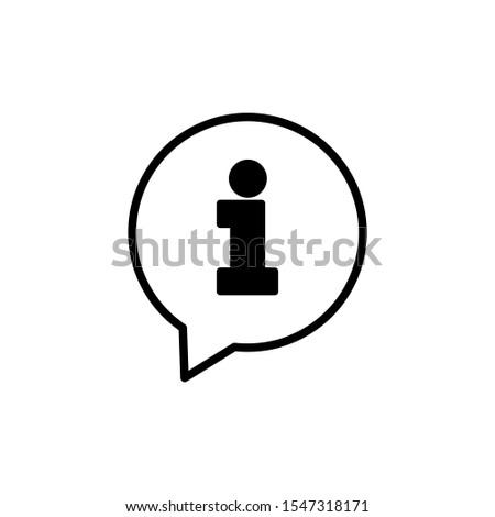 Bubble Info icon - Vector