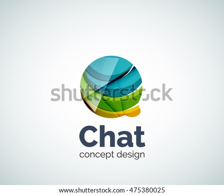 Bubble logo template created with abstract geometric overlapping elements