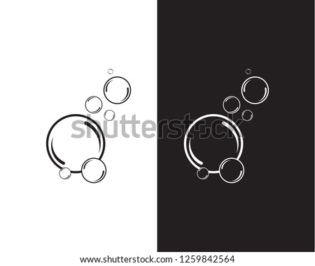 Bubble logo template vector icon illustration design