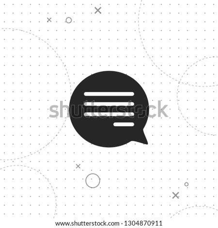 Bubble message, message, vector best flat icon on texture background , EPS 10