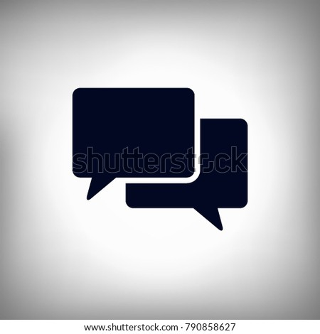 bubble message sign icon