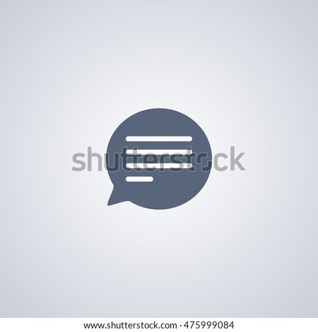 Bubble message Vector Icon, Message Icon Vector