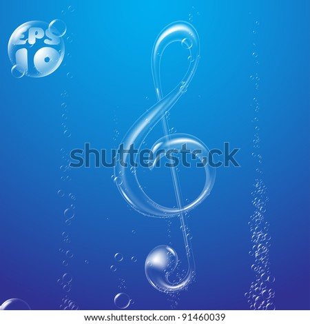 bubble music note underwater