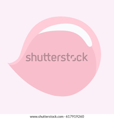 Bubble of chewing gum. Vector illustration.