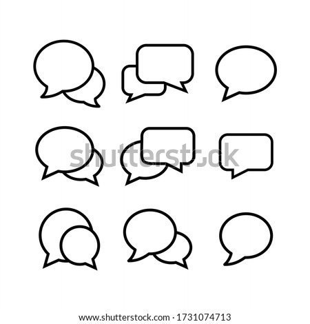 Bubble set icon vector illustration. Chat, dialog, conversation icon symbol